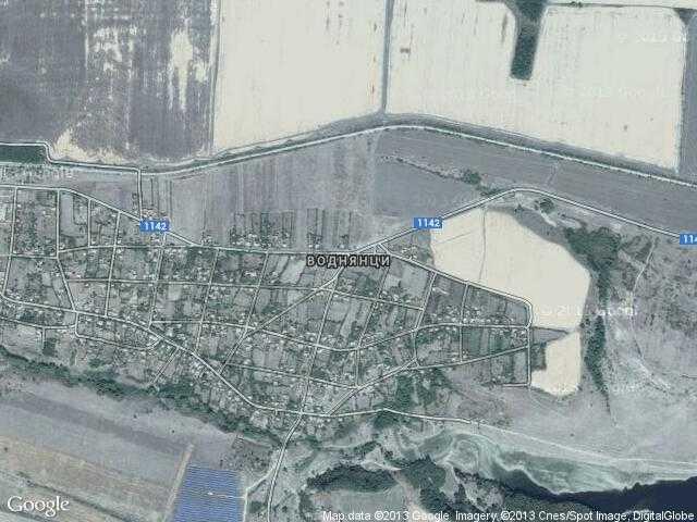 Сателитна карта на Воднянци