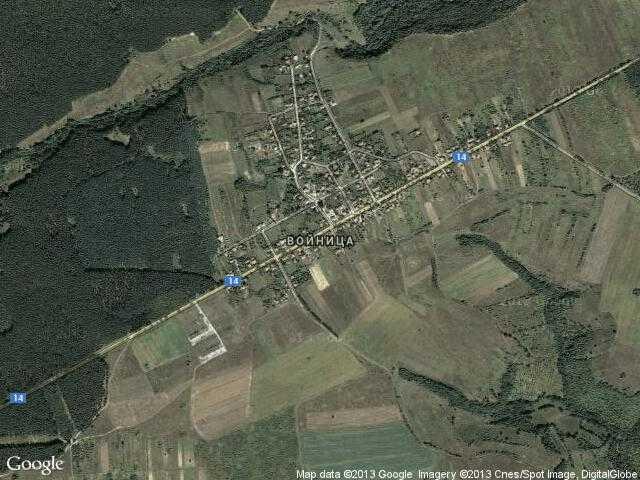 Сателитна карта на Войница