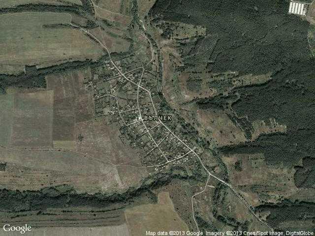 Сателитна карта на Вълчек