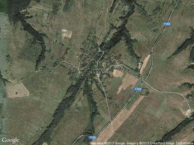 Сателитна карта на Върба