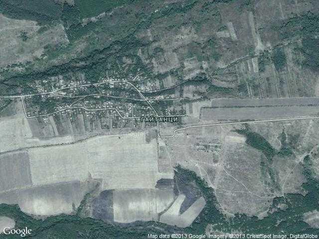 Сателитна карта на Гайтанци