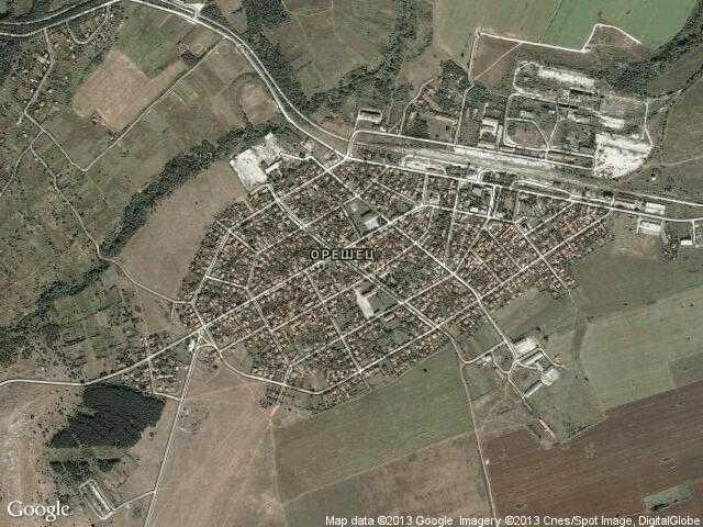 Сателитна карта на Гара Орешец