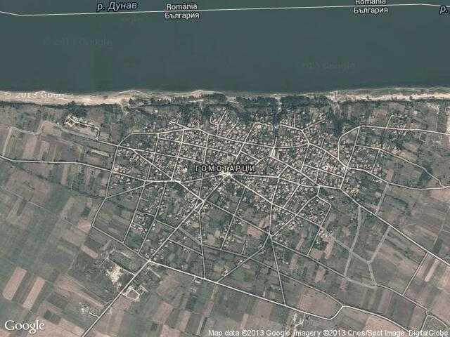 Сателитна карта на Гомотарци