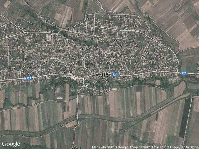 Сателитна карта на Градец