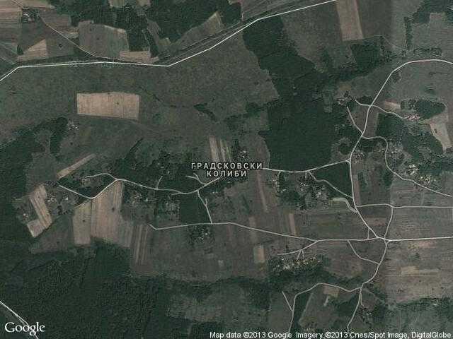 Сателитна карта на Градсковски колиби