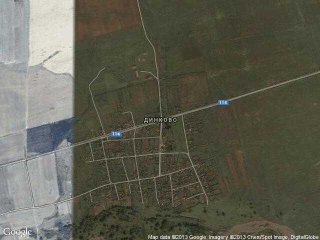 Сателитна карта на Динково