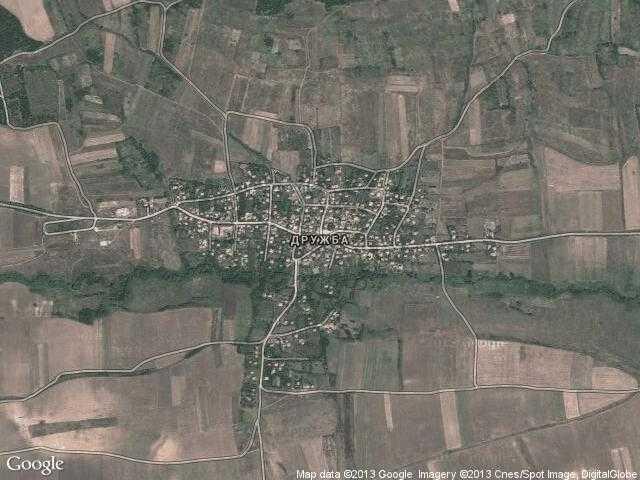 Сателитна карта на Дружба