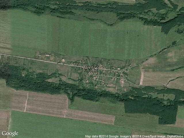 Сателитна карта на Дълго поле