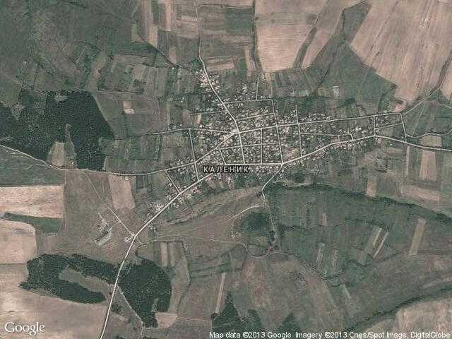 Сателитна карта на Каленик