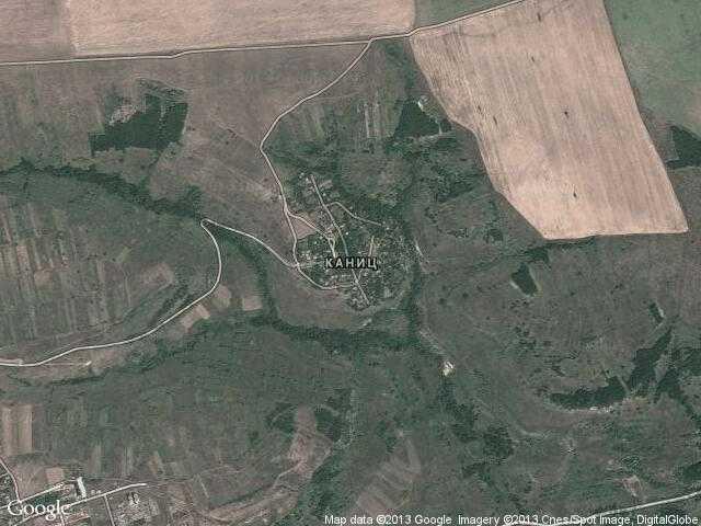 Сателитна карта на Каниц