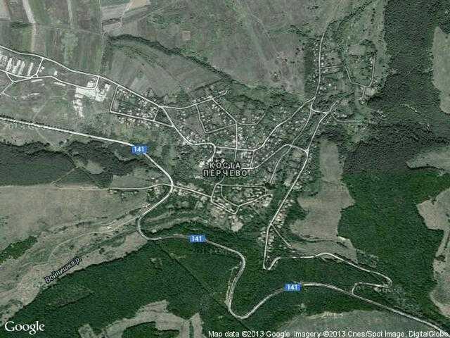 Сателитна карта на Коста Перчево