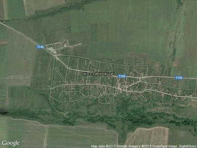 Сателитна карта на Костичовци