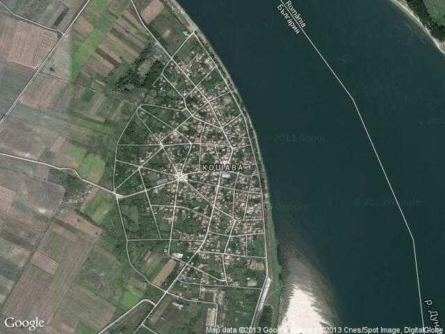 Сателитна карта на Кошава