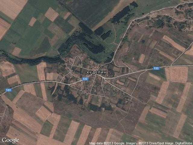 Сателитна карта на Куделин