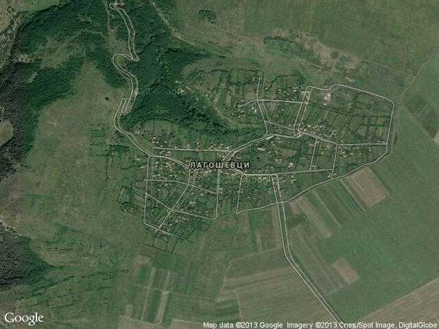 Сателитна карта на Лагошевци