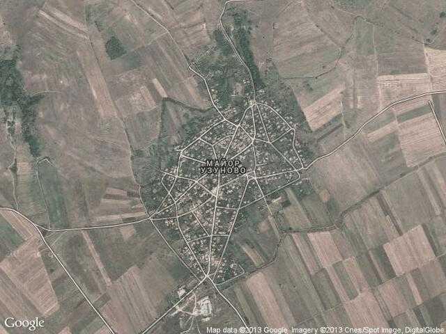 Сателитна карта на Майор Узуново