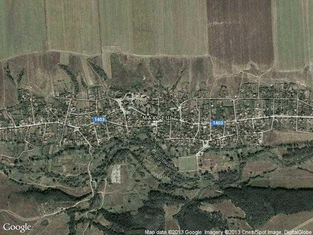 Сателитна карта на Макреш