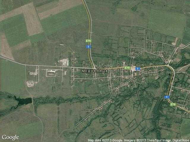 Сателитна карта на Медовница
