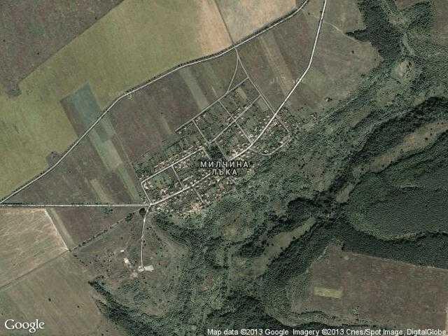 Сателитна карта на Милчина лъка