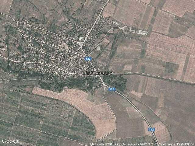 Сателитна карта на Неговановци