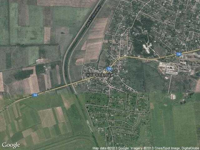 Сателитна карта на Новоселци