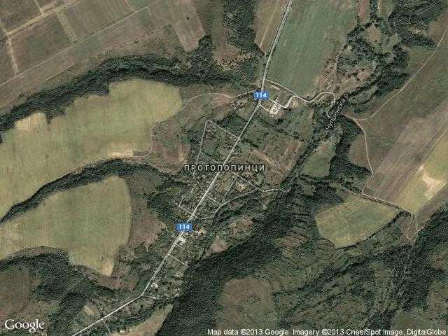 Сателитна карта на Протопопинци