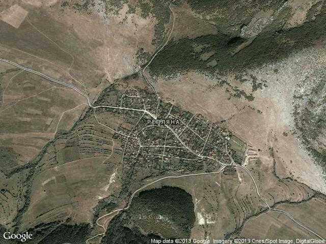 Сателитна карта на Репляна