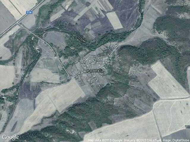 Сателитна карта на Роглец