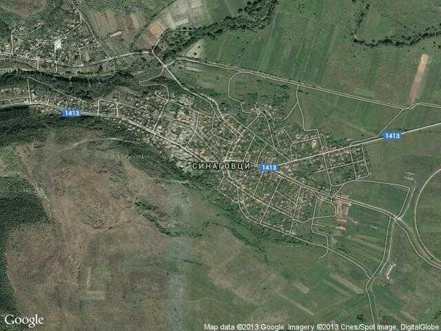Сателитна карта на Синаговци