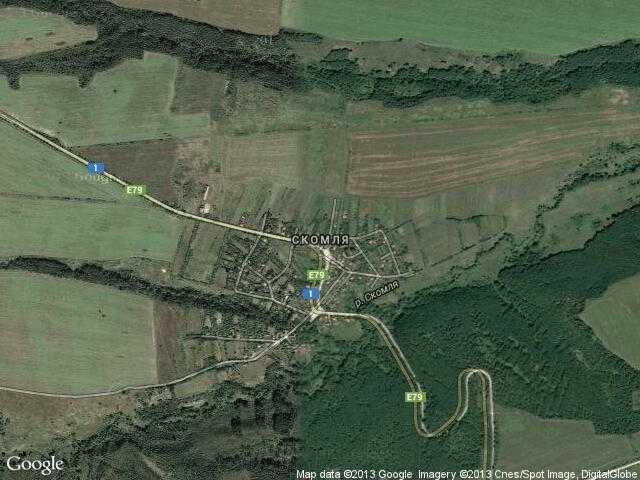 Сателитна карта на Скомля