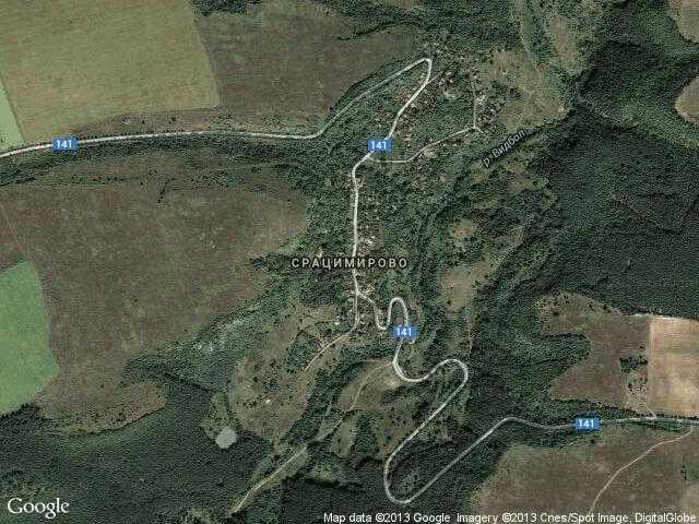 Сателитна карта на Срацимирово