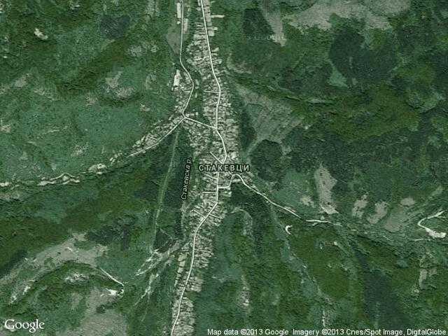 Сателитна карта на Стакевци