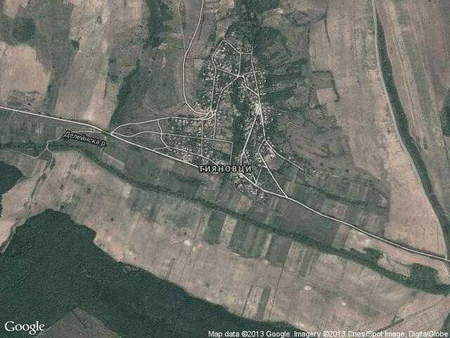 Сателитна карта на Тияновци