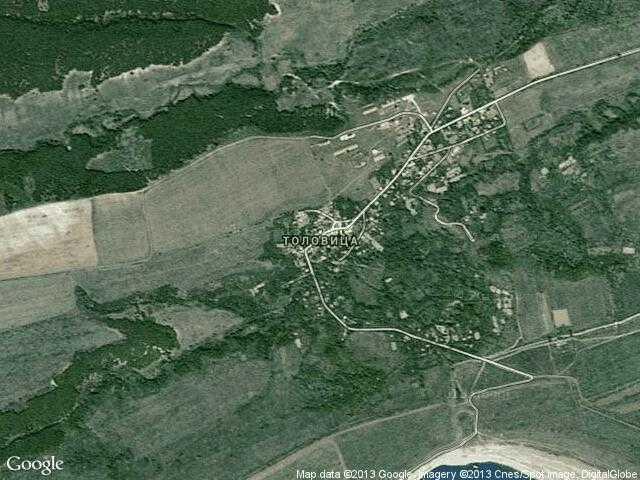 Сателитна карта на Толовица