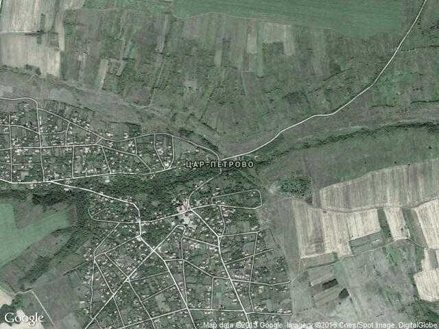 Сателитна карта на Цар-Петрово