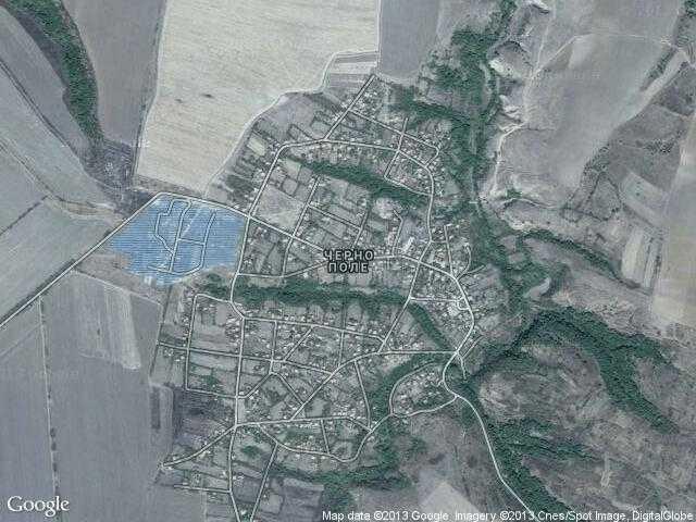 Сателитна карта на Черно поле