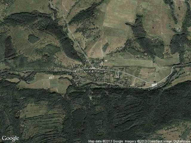 Сателитна карта на Чифлик