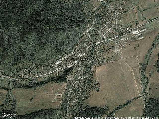 Сателитна карта на Чупрене