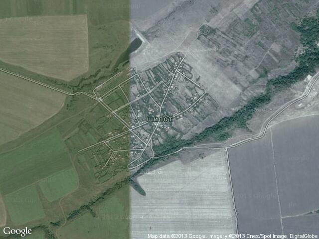 Сателитна карта на Шипот