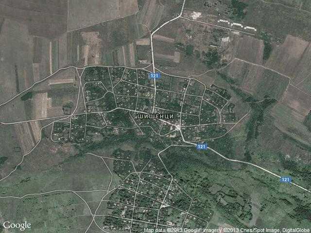 Сателитна карта на Шишенци