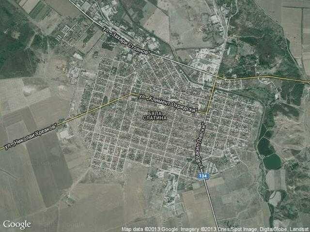 Сателитна карта на Бяла Слатина