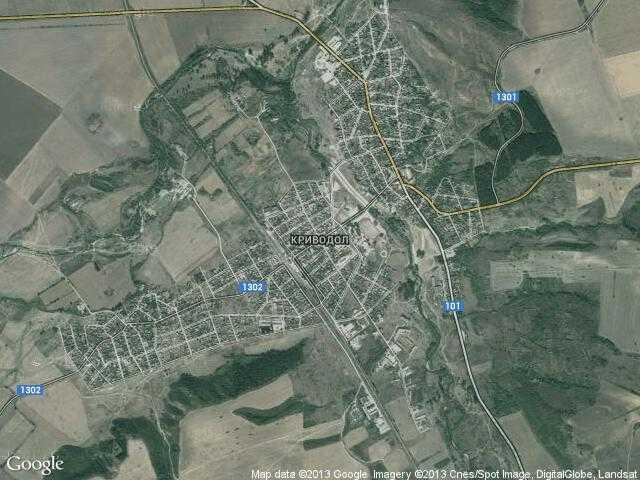 Сателитна карта на Криводол