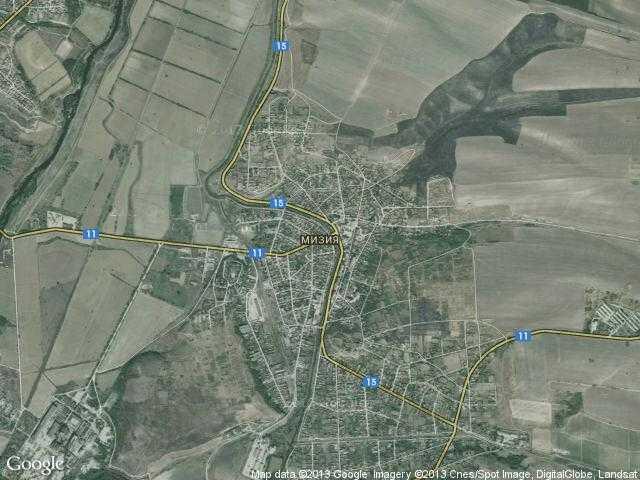 Сателитна карта на Мизия