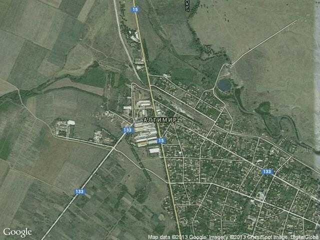 Сателитна карта на Алтимир