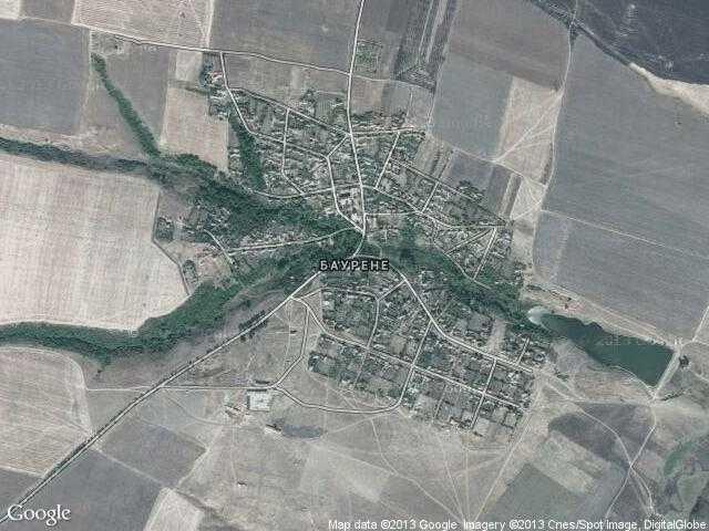 Сателитна карта на Баурене