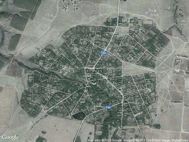 Сателитна карта на Враняк