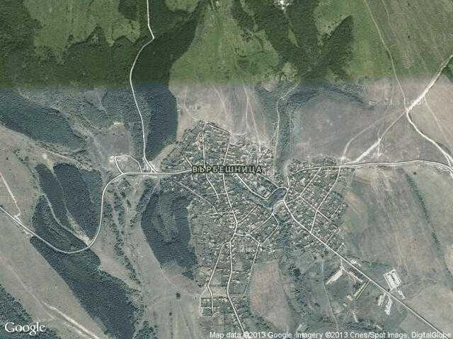 Сателитна карта на Върбешница
