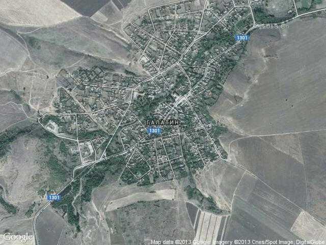 Сателитна карта на Галатин