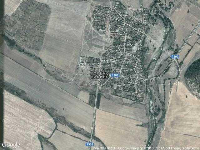 Сателитна карта на Големо Бабино