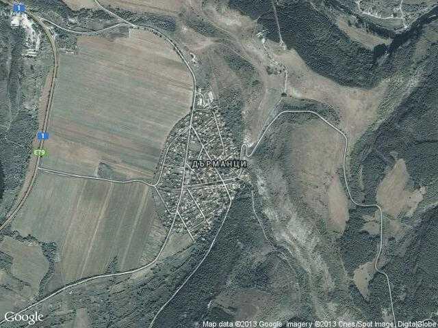 Сателитна карта на Дърманци